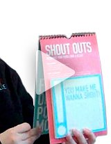 Watch the product demo now to learn more about how to use Shout Outs as a peer recognition program! Please note that the Exclamations theme is shown in the video.