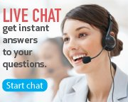 Live Chat, get instant answers to your questions