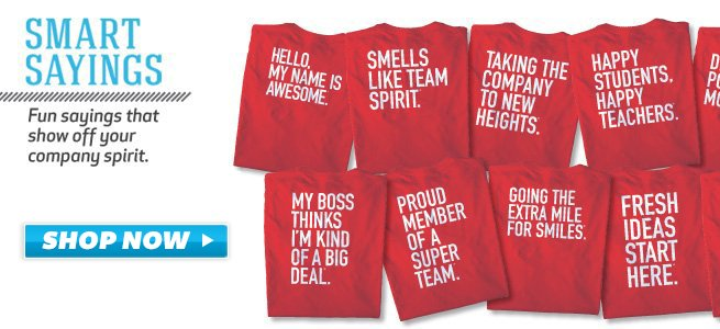 Baudville Smart Saying Custom T-Shirts