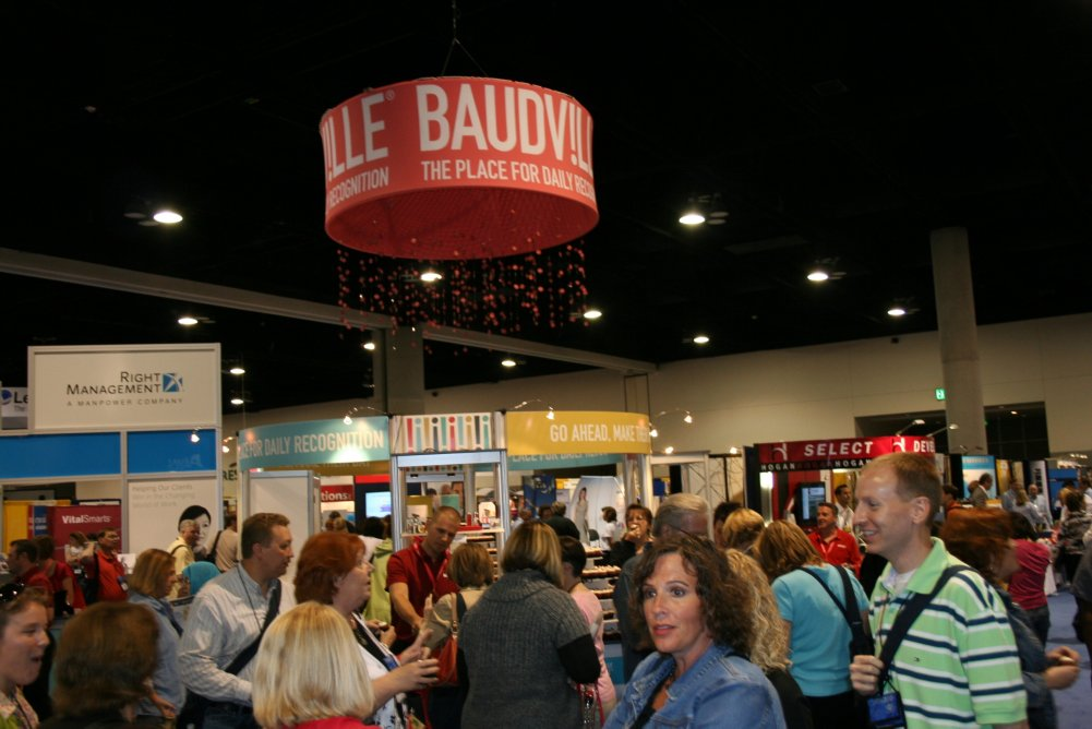 The busy booth at SHRM 2010!