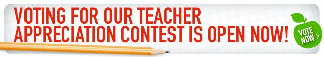 Vote for your Favorite Teacher!