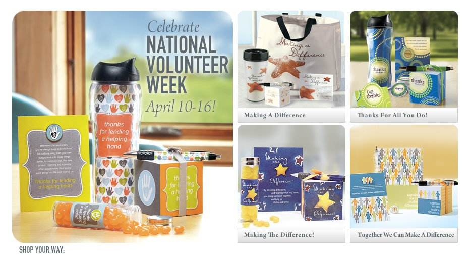 Shop for National Volunteer Appreciation Week