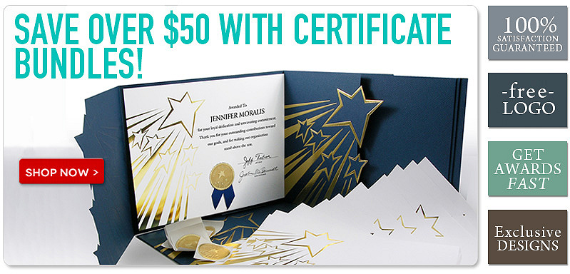 Save over $50 with certificate bundles!