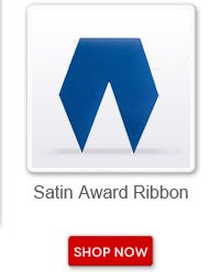 Satin award ribbon. Shop now button