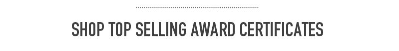 Shop top selling award certificates