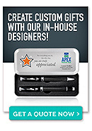 Create custom gifts with our in house designers! Get a quote now button