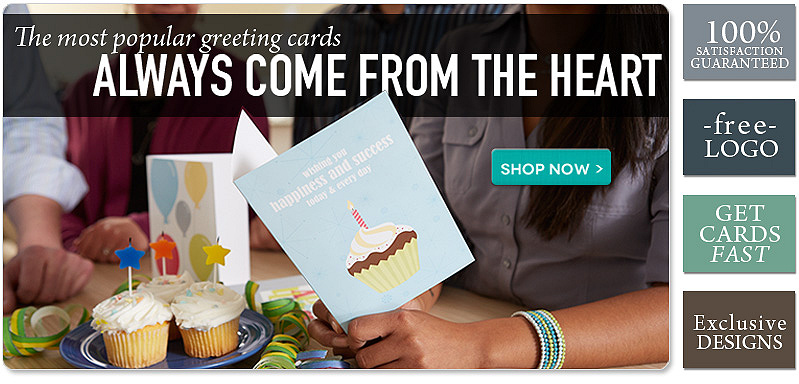 The most popular greeting cards always come from the heart!