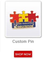 Custom Pin. Shop now button