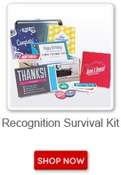 Recognition survival kits. Shop now button