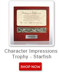Character impressions trophy - starfish. Shop now button