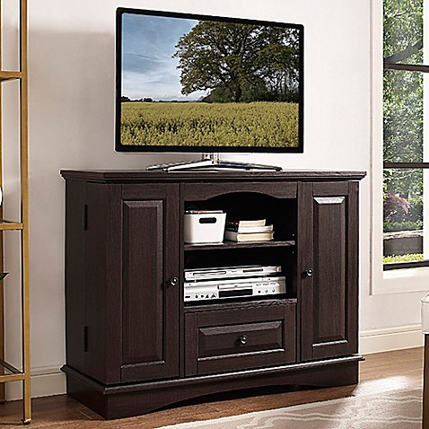 Buy Walker Edison Highboy Tv Stand In Espresso From Bed