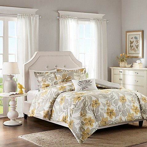 Harbor House Gabrielle Duvet Cover Set In Yellow Grey