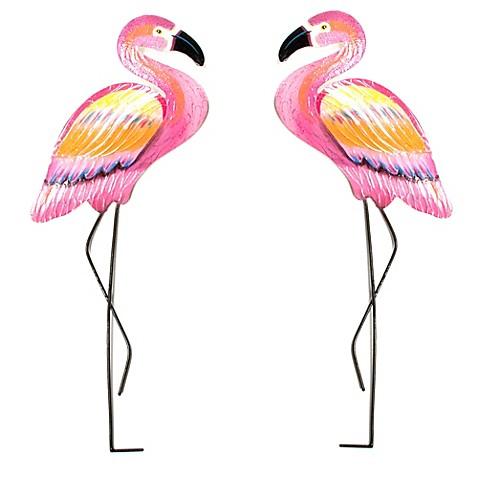 T I Design Metal Pink Flamingo Wall Art Bed Bath Amp Beyond