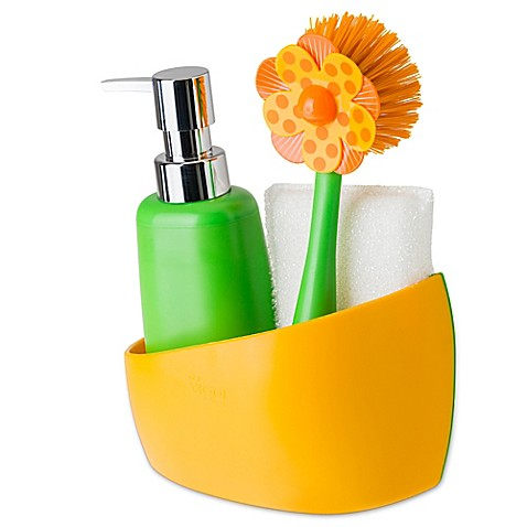 Buy Sink Side Set Soap Dispenser With Caddy In Orange From