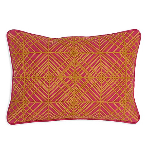Bed Bath And Beyond Orange Throw Pillows : Buy Villa Home Trella 14-Inch x 20-Inch Oblong Throw Pillow in Orange/Pink from Bed Bath & Beyond