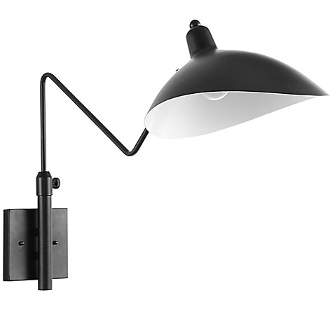 Modway View Wall Lamp in Black at Bed Bath & Beyond in Cypress, TX | Tuggl