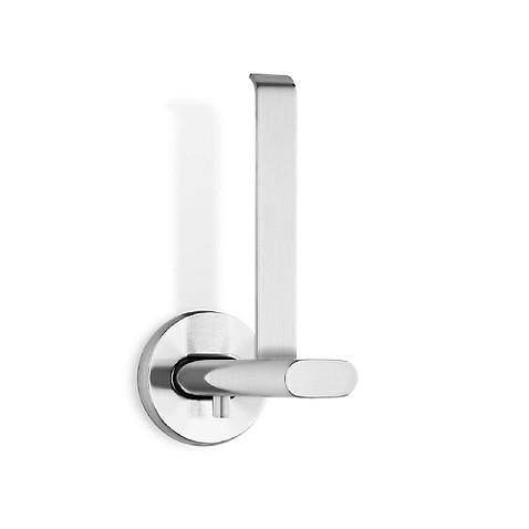 buy areo brushed vertical toilet paper holder from bed bath beyond. Black Bedroom Furniture Sets. Home Design Ideas