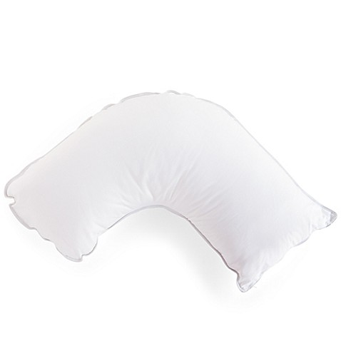 Buy the pillow barr small soft feather down side sleeper for Best pillow for side sleepers bed bath and beyond