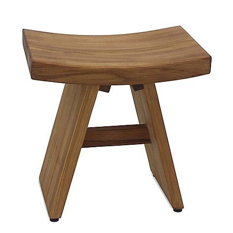Buy Asia Teak Shower Vanity Stool From Bed Bath Amp Beyond