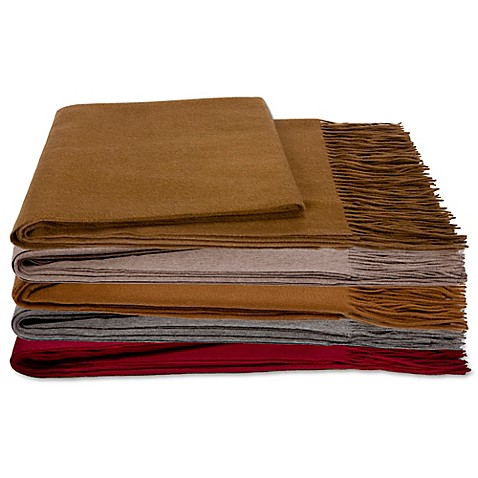 Flora Cashmere Premier Cashmere & Wool Throw Blanket at Bed Bath & Beyond in Cypress, TX | Tuggl