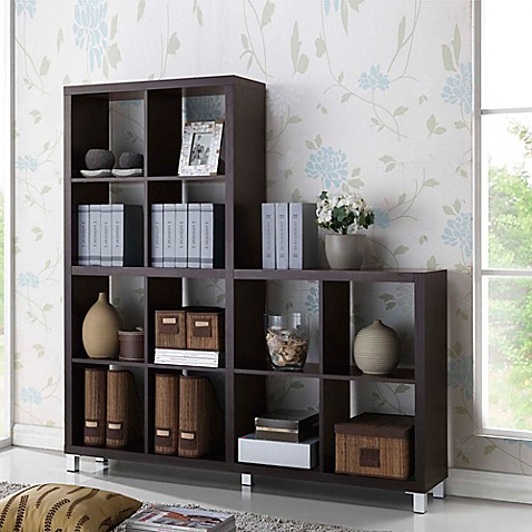 Sunna Shelving Unit Bookcase in Dark Brown at Bed Bath & Beyond in Cypress, TX | Tuggl