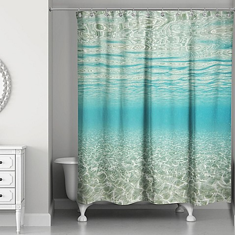 Designs Direct Under The Ocean Shower Curtain In Blue