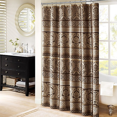 Madison Park Bellagio 72 Inch Shower Curtain In Taupe