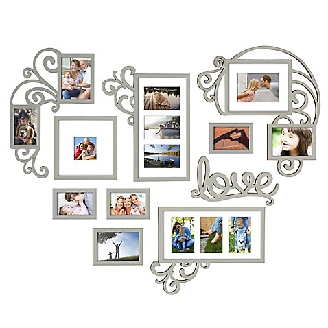 Buy Wallverbs 10 Piece Heart Love Scroll Photo Frame Set