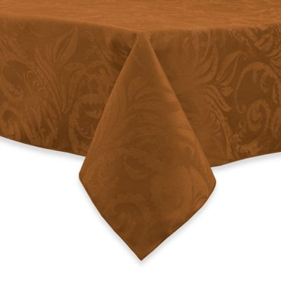 Autumn Scroll Damask Tablecloth Bed Bath Amp Beyond