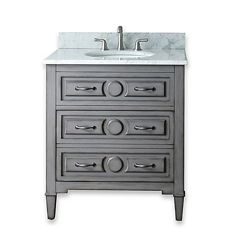 Buy Avanity Kelly 30 Inch Bathroom Vanity Combo In Grey Blue From Bed Bath Beyond