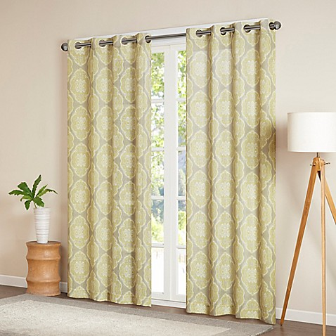 Madison park sari texture window curtain panel bed bath for Window curtains texture