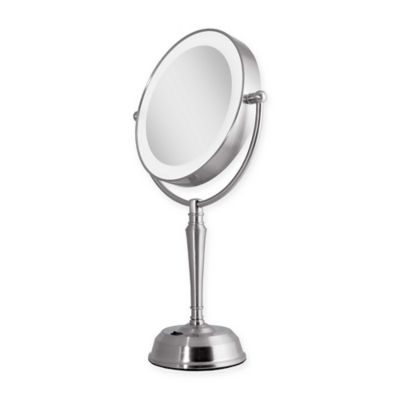 Led Lighted Vanity Mirror Next Generation : Buy Zadro Next Generation 1X/10X LED Vanity Mirror in Satin Nickel from Bed Bath & Beyond