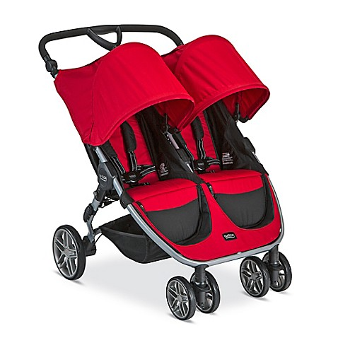 britax 2016 b agile 3 double stroller in red buybuy baby. Black Bedroom Furniture Sets. Home Design Ideas