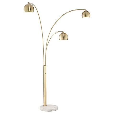 Pacific coastr lighting crosstown arc 3 light floor lamp for Mitchell gold arc floor lamp