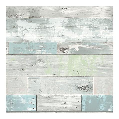 Nuwallpaper Beachwood Peel Amp Stick Wallpaper Bed Bath