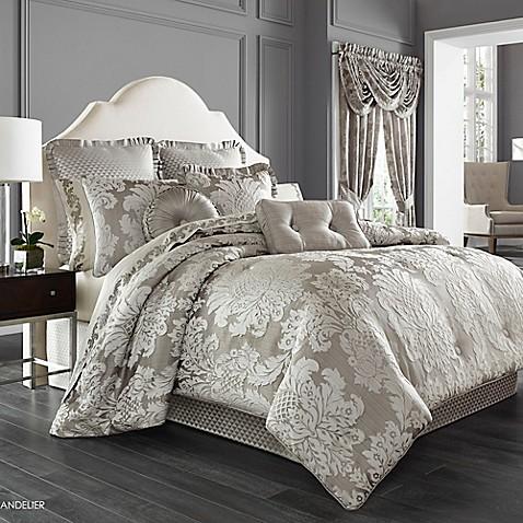 J Queen New York Chandelier Comforter Set In Silver