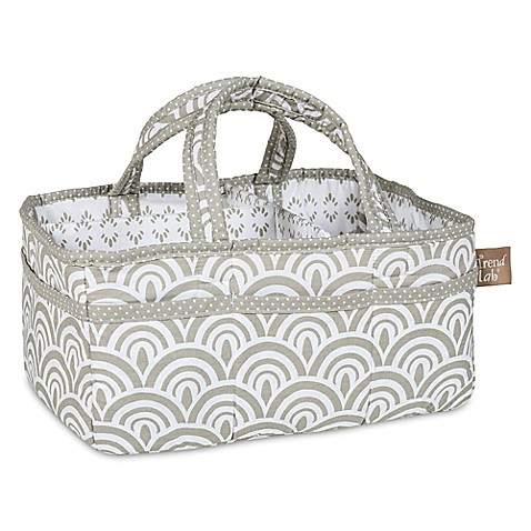 Trend Lab® Art Deco Storage Caddy in Grey/White at Bed Bath & Beyond in Cypress, TX | Tuggl