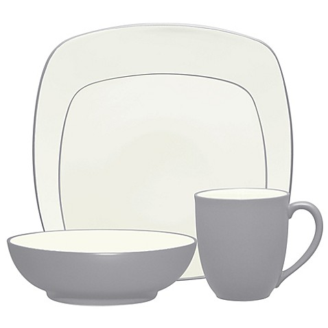 Noritake® Colorwave Square Dinnerware Collection in Slate at Bed Bath & Beyond in Cypress, TX   Tuggl