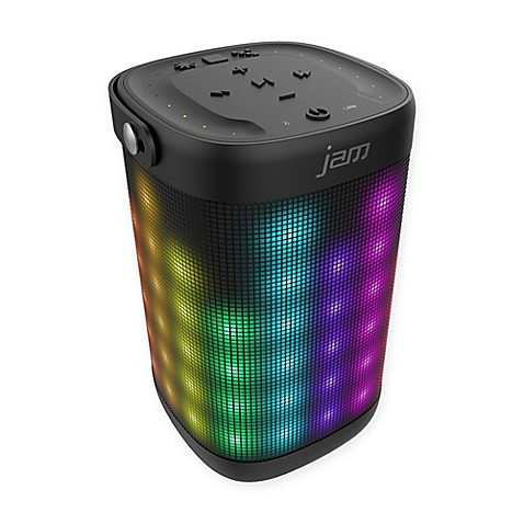 Buy jam trance max wireless bluetooth light show speaker in black from bed bath beyond for Bathroom light with bluetooth speaker