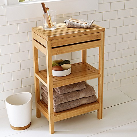 Bamboo Small Floor Cabinet by Bed Bath And Beyond