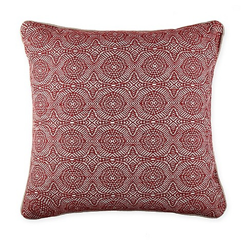 Pappoe Square Throw Pillow in Red - Bed Bath & Beyond