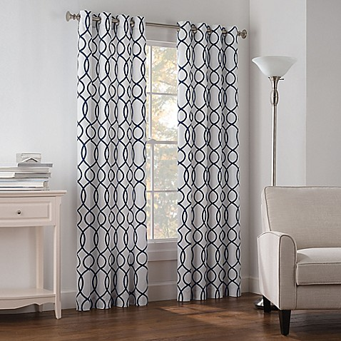 Newport Wave Light-Filtering Grommet Top Window Curtain Panel at Bed Bath & Beyond in Cypress, TX | Tuggl