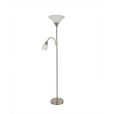 Alton torchiere floor lamp with reader collection bed for Torchiere floor lamp bed bath and beyond