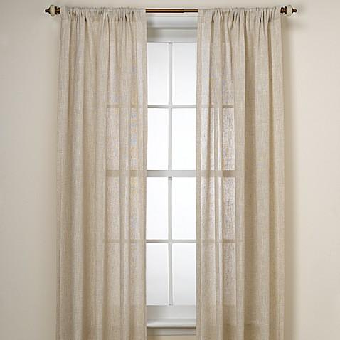 B Smith Barbados Natural Window Curtain Panel Bed Bath
