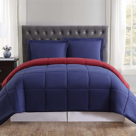 Truly soft everyday reversible comforter set bed bath - Bed bath and beyond bedroom furniture ...