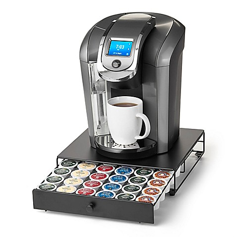 """Keurig Brewed"" Under the Brewer 36 K-Cup Capacity Rolling Drawer by Nifty™ at Bed Bath & Beyond in Cypress, TX 