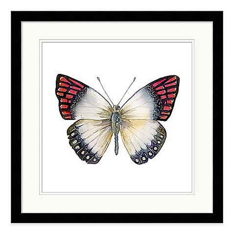 Butterfly ii extra large framed wall art bed bath beyond for Extra large wall art