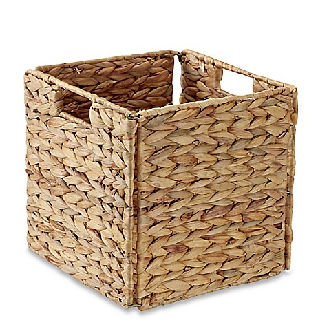 Real Simple® Woven Water Hyacinth Folding Storage Basket in Natural at Bed Bath & Beyond in Cypress, TX | Tuggl