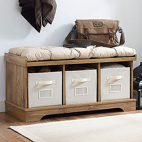 Walker Edison Storage Bench at Bed Bath & Beyond in Cypress, TX | Tuggl