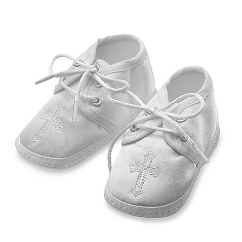 Boy s Christening Shoes with Embroidered Cross by Lauren